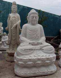 Marble Kwanyin Statue carving Sculpture Garden statue photo image