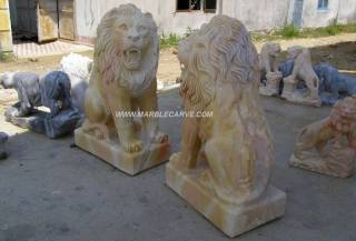 Marble Lion Statue Sculpture statue carving