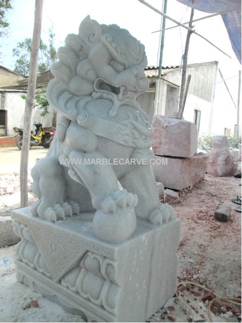 marble Fudog carving sculpture